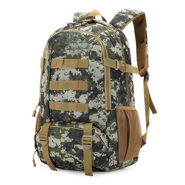 Tactical Backpack 40L 45 Camo Military Army Mochila Molle Waterproof Hiking  Hunting Backpack Tourist Rucksack Outdoor Sport Bag 1ddf233da4a57