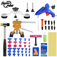 Super PDR Auto Dent Pullers Suction Cup Professional Paintless Dent Repair Tool Kit Dent Pulling Bridge Lifter Hot Melt Glue Gun