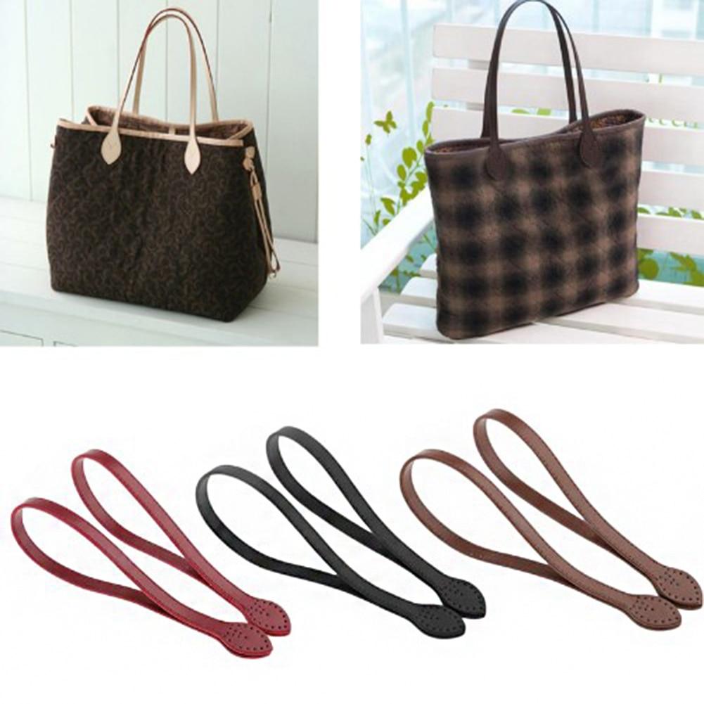 2Pcs 60cm Bag Strap PU Leather Bag Handle Belt Shoulder Bag Handles Replacement For Handbags Strap DIY Accessories