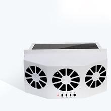Car Fan Ventilation Solar Three Hood Auto Exhaust Radiator Desuperheater Powerful Power-White air cooler mini