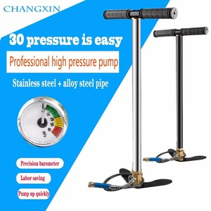(FREE SHIPPING) 300bar 30mpa 4500psi 3 Stage Mini High Pressure Compressor,Hand Operated Pcp Pump For Air pump Rifles Paintball(China)