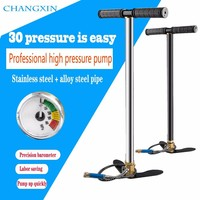 (FREE SHIPPING) 300bar 30mpa 4500psi 3 Stage Mini High Pressure Compressor,Hand Operated Pcp Pump For Air pump Rifles Paintball
