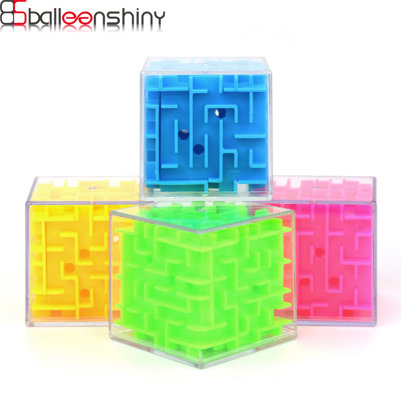 BalleenShiny 3D Maze Magic Cube Puzzle Toy Kids Funny Creative Hand Game Development Baby Early Educational Toys For Children