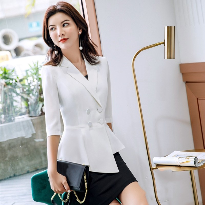 Women Suits 2019 Spring Summer Irregular Blazers Coat Office Lady Fashion Casual Work Business Blazers Women Clothes
