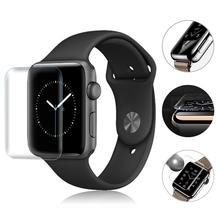 2 sztuk 3D pełny ekran odporny na zarysowania miękki ekran folia ochronna na hydrożel Film do zegarka Apple Watch 1 2 3 seria 38mm 42mm nowy