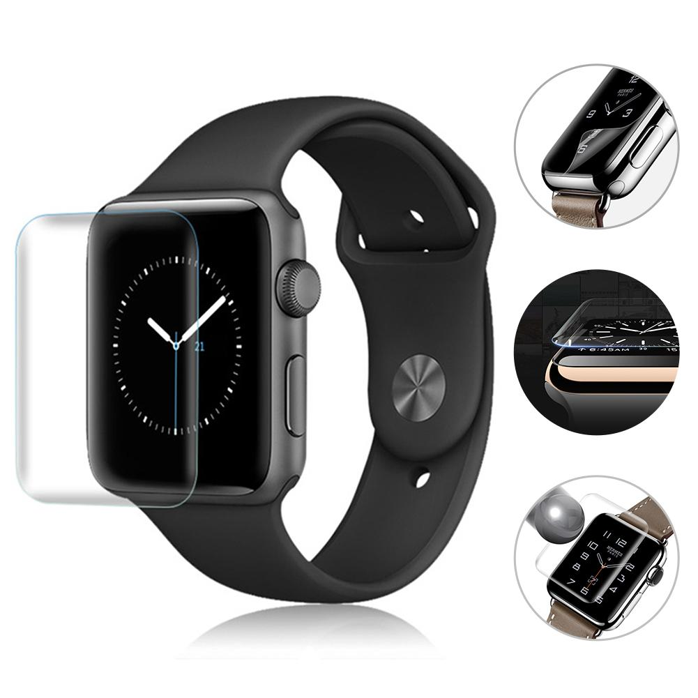2PCS 3D Full Screen Scratch Resistant Soft Screen Protector Film Hydrogel Film For IWatch Apple Watch 1 2 3 Series 38mm 42mm New-in Smart Accessories from Consumer Electronics