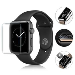 Image 1 - 2PCS 3D Full Screen Scratch Resistant Soft Screen Protector Film Hydrogel Film For IWatch Apple Watch 1 2 3 Series 38mm 42mm New