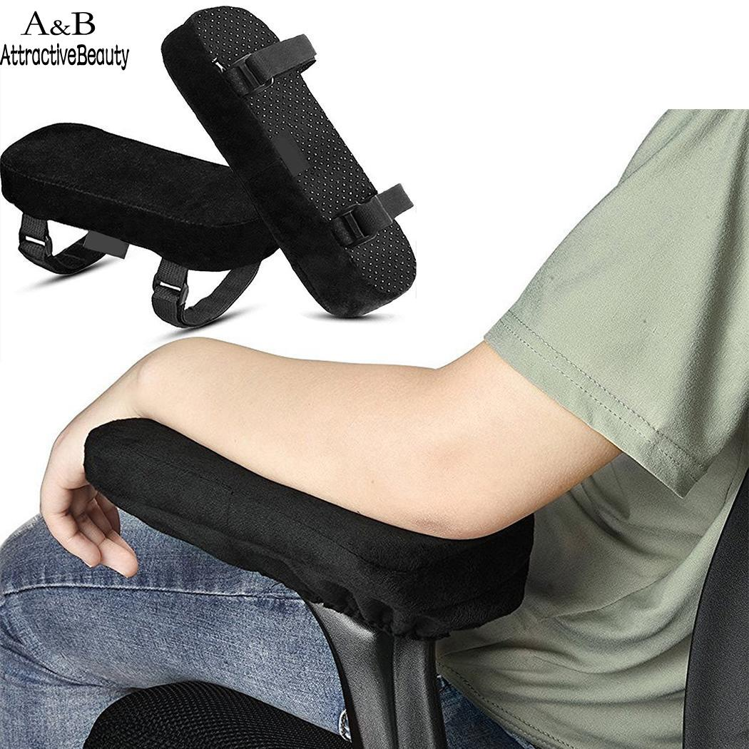 Chair Armrest Pad Gripped Chair Pads of Cushions Memory Home Office Solid Black Anti-Slip Armrest Pair for Oval CottonChair Armrest Pad Gripped Chair Pads of Cushions Memory Home Office Solid Black Anti-Slip Armrest Pair for Oval Cotton