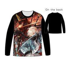 Fate Grand Order Saber T shirt Anime Fgo Emiya Cosplay T-shirts Casual Okita Souji fate zero Short  Cotton  Tops Unisex Tees цена 2017