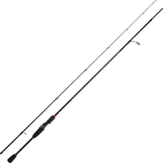 Tsu novo hacker carbono vara de pesca mf ação 2 seção ul/l/ml/m/mh potência fuji acessórios arremesso fiação isca de pesca vara