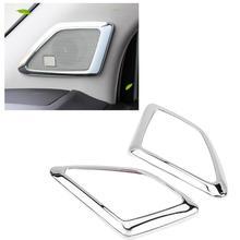 2 шт салона столб двери Крышка аудио динамика отделкой рамка для Toyota Prado J150 2014 2015 2016 2017 2018 серебро хром