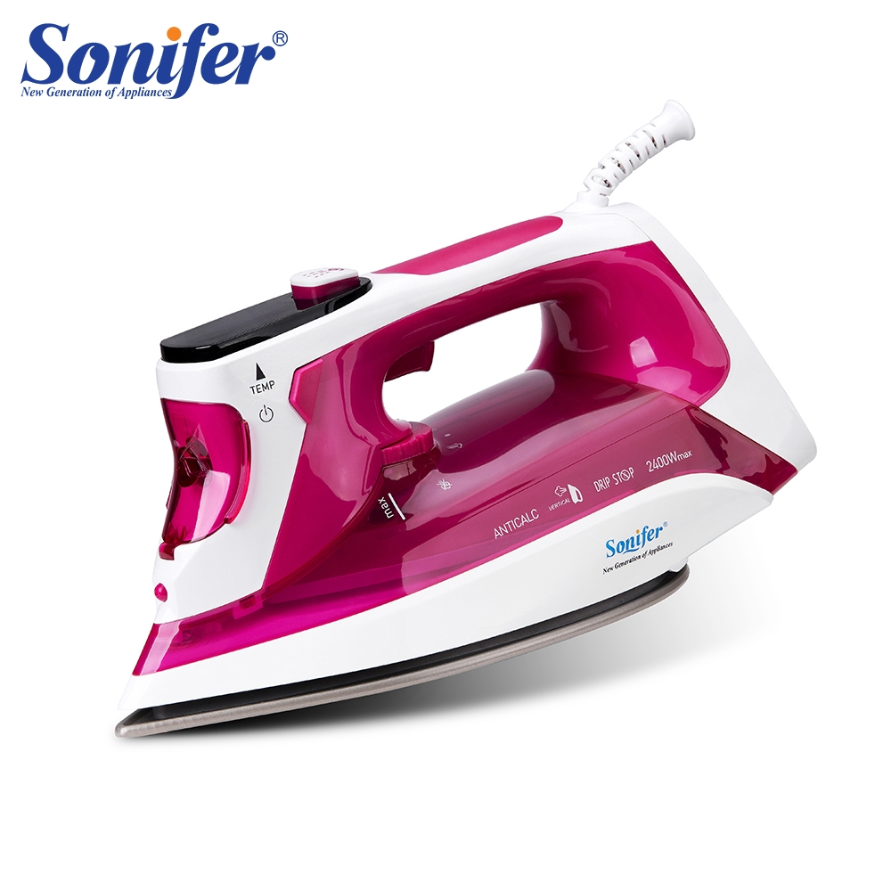 2400W Electric Steam Irons Digital LED Display For Clothes Home Laundry Appliances High Quality Iron Ironing 220V Sonifer