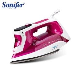 Plancha de Vapor Eléctrica de 2400W pantalla LED Digital para ropa electrodomésticos aparatos de lavandería plancha de alta calidad 220V Sonifer