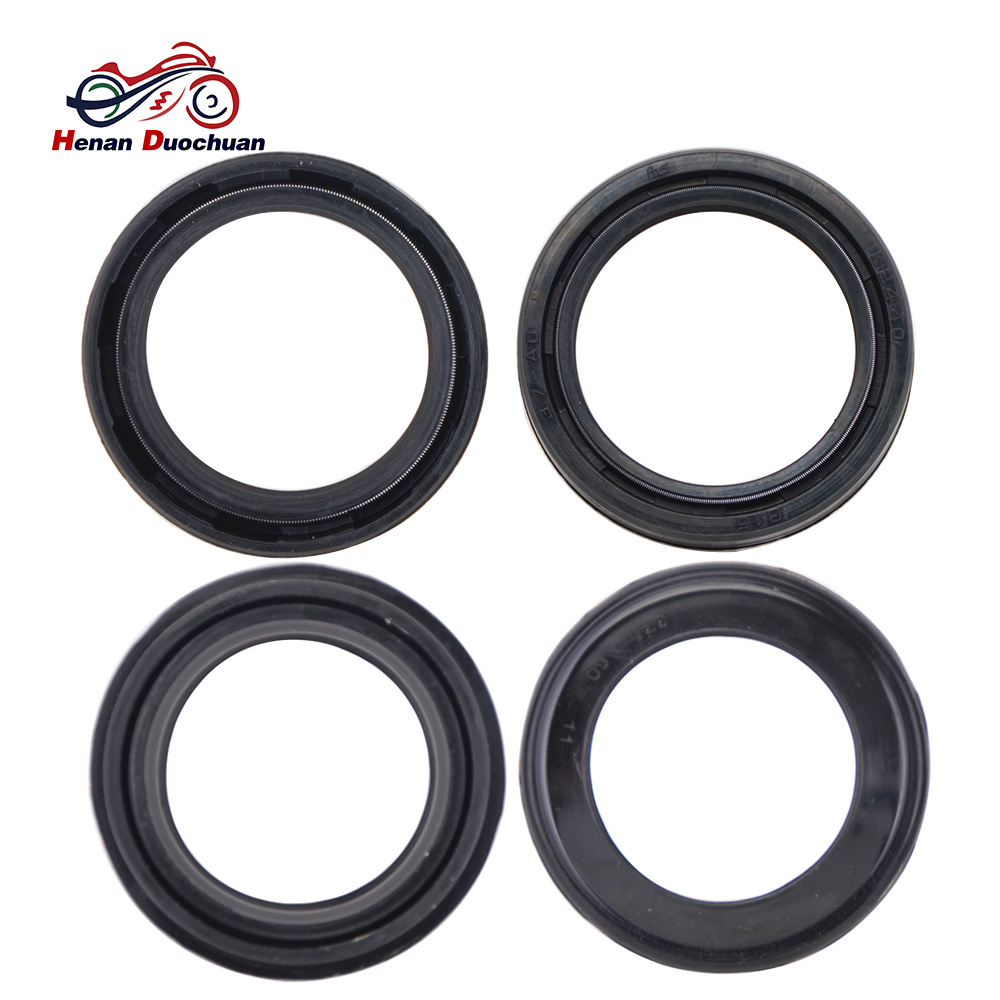 37x50x11mm motorcycle part skeleton and nitrile rubber front shock absorber fork oil seal and 37x50 dust [ 1000 x 1000 Pixel ]