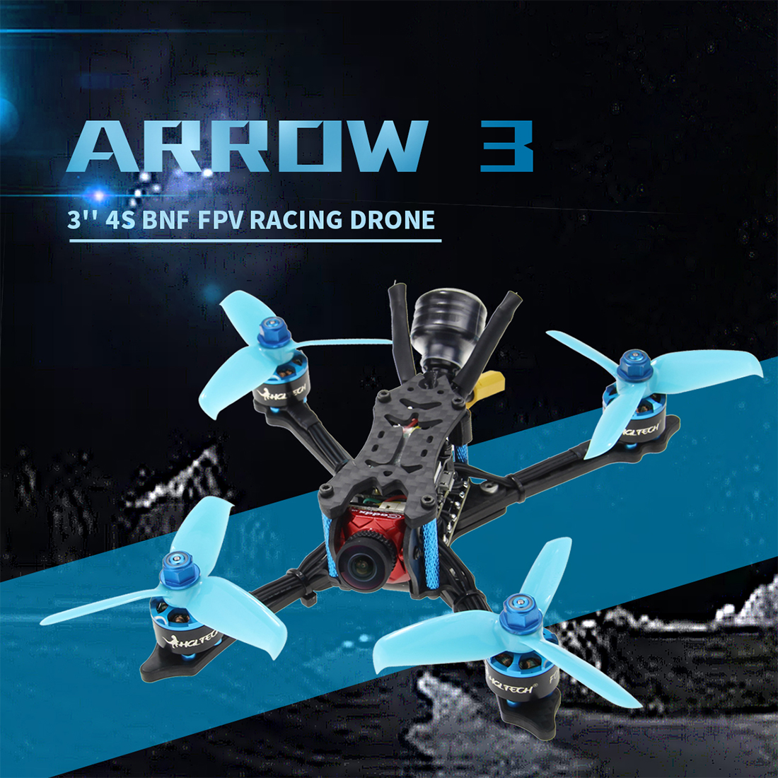 HGLRC Arrow3 152mm de 3 pulgadas F4 OSD 4S/6 S Mini FPV Racer Dron PNP BNF con 45A CES Caddx Ratel 1200TVL Cámara RC Quadcopter - 2