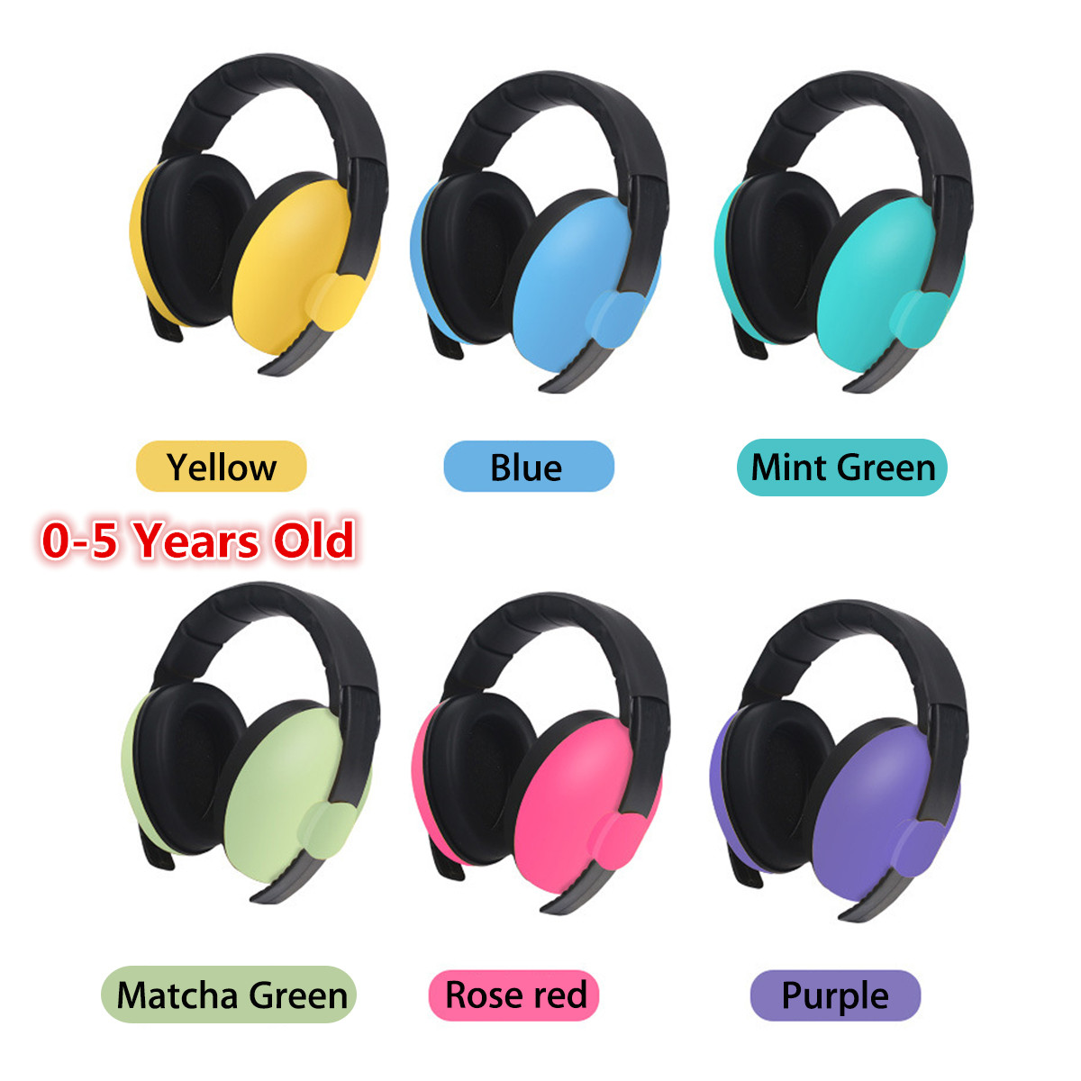 NEW 1 pcs Adjustable Baby Earmuffs Hearing Protection Ear Defenders Noise Reduction Safety for 3 Months-5 Years Old Child BabyNEW 1 pcs Adjustable Baby Earmuffs Hearing Protection Ear Defenders Noise Reduction Safety for 3 Months-5 Years Old Child Baby