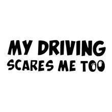 Adesivos de carro engraçados, desenhos animados, cicatrizes me aviso decalques refletores automotivos, decoração corporal acessórios