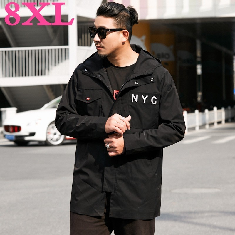 big 8XL New Men Spring And Autumn Jackets Coats Plus Size 6xl 7xl 8xl 9xl  Large Mens Clothes Youth Windbreaker