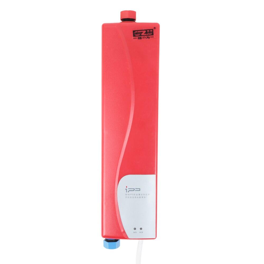 2019 Mode Gzu Mini Instant Heizung Elektrische Wasser Heizung Tankless Heißer Durchlauferhitzer System Für Home Küche Bad Eu