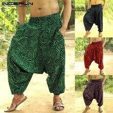 Di modo Degli Uomini di Ballo delle Pantaloni stile harem Aladdin Hmong Boho  Baggy Hiphop Pantaloni 56c891c7a131