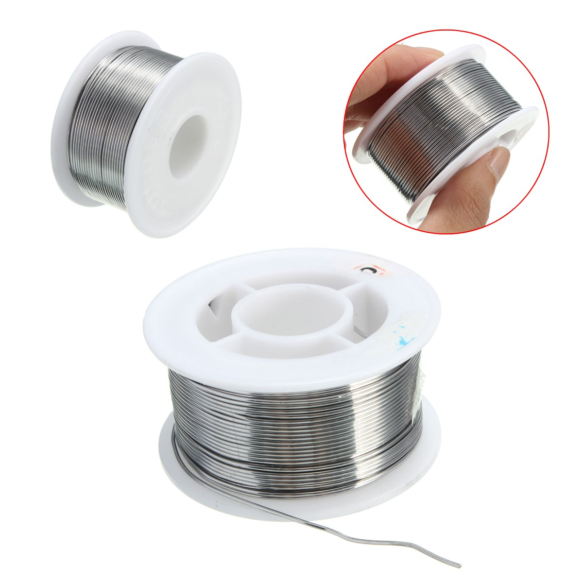 Tin lead <font><b>Solder</b></font> Wire Rosin Core 100g 0.8mm <font><b>60</b></font>/<font><b>40</b></font> Soldering 2% Flux Reel Tube New Good Solderability Insulation Resistance image
