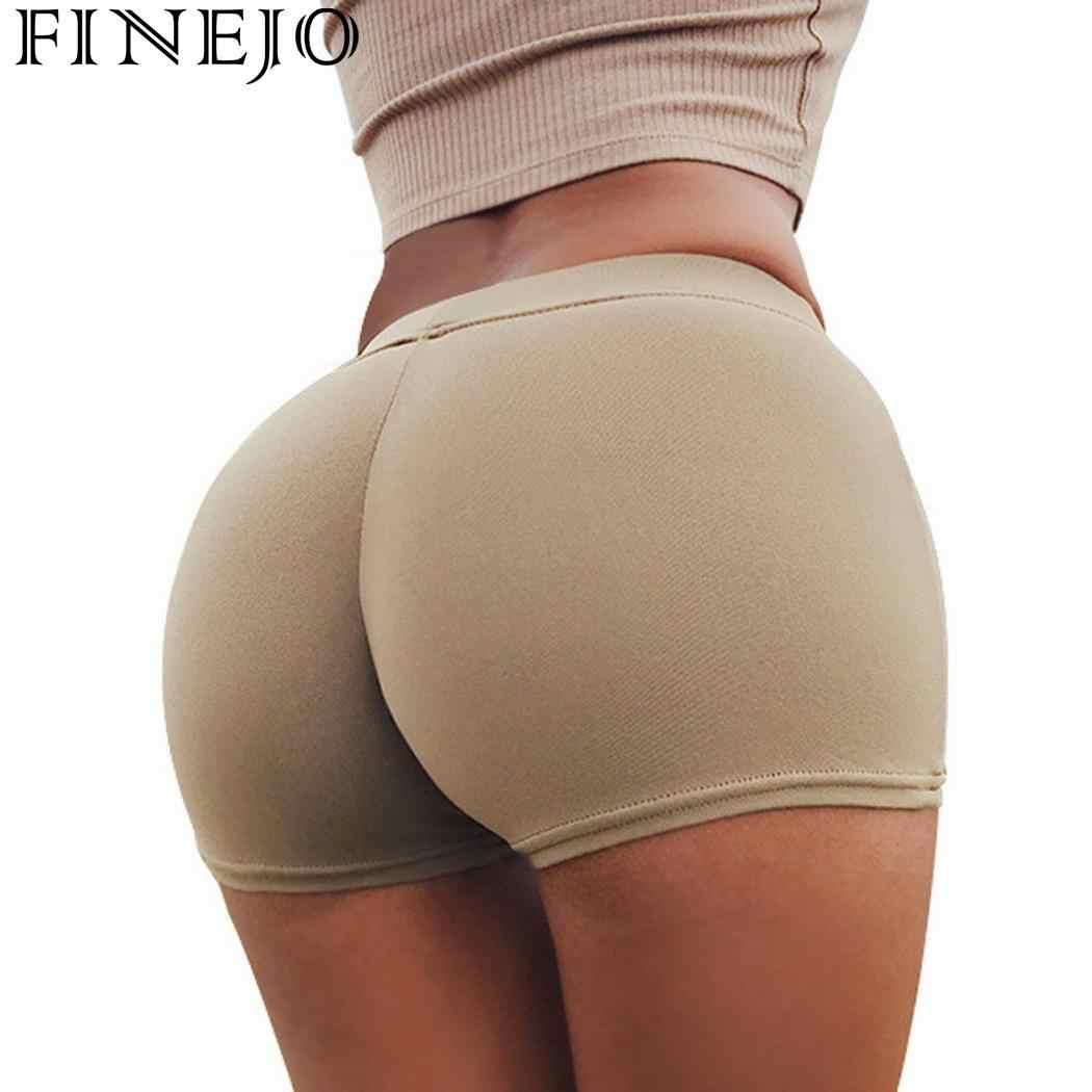 ee7e80fcac713 Casual Women Underwear Lift High Elastic Waist Butt Mini Short Shorts Sport  Pants Solid Color Fitness