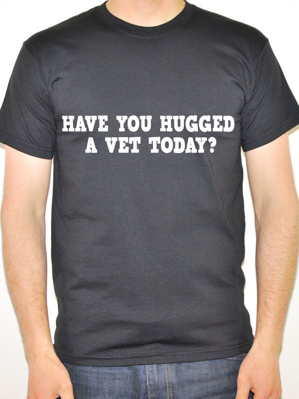 Order T Shirts Crew Neck Vet Have You Hugged A Animals Short Sleeve Office Mens Tee in T Shirts from Men 39 s Clothing
