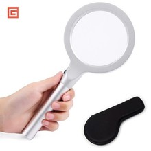 High Quality Portable Handheld LED Magnifier Loupe Hand Magnifying Glasses Glass With Light Lamp Magnifiers Reading Helping Tool 10x glasses magnifier handheld led scale loupe portable 28mm jeweler magnifying glass 8 led light reticle scale magnifying tool