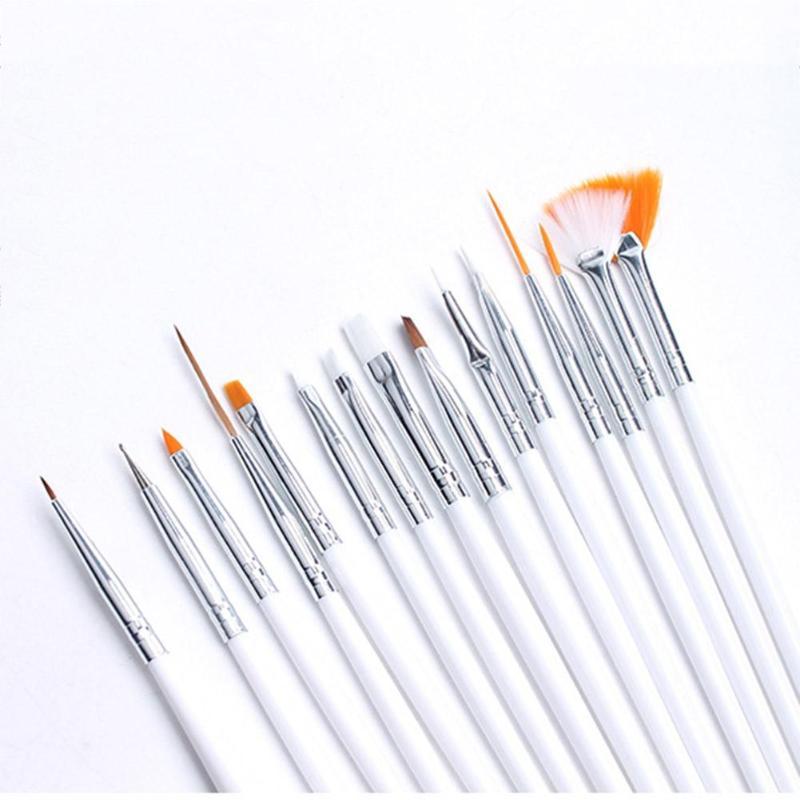 20 pièces Nail Art peinture stylo ensemble ongles pointillé dessin vernis pinceaux outil brosses pour manucure ongles brosse accessoires - 4