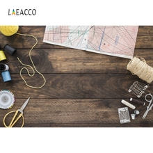 Laeacco Wooden Board Sewing Line Backdrop Portrait Photography Backgrounds Customized Photographic Backdrops For Photo Studio