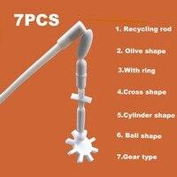 Магнитный смеситель для размешивания стержней  удилище: 6 форм + Магнитный ретривер