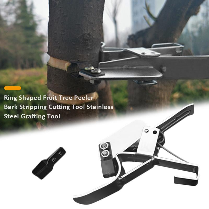 Ring Shaped Fruit Tree Potted Plant Peeler Bark Stripping Cutting Tool Stainless Steel Grafting Garden Tool