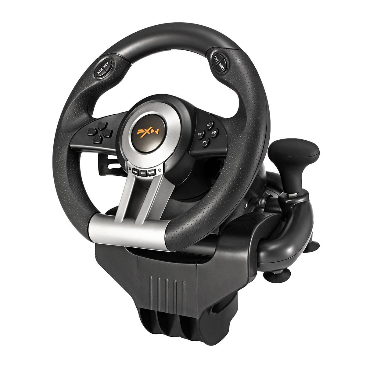 PXN V3II jeu de course volant frein pédale pour PC ordinateur Gamepads jeux accessoires bricolage conduite Simulation noir