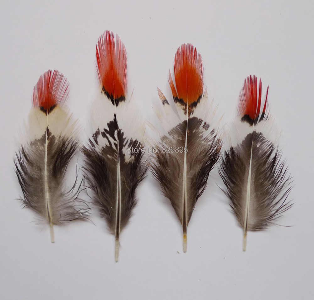 100 pièces 5-10 cm Doré Cuivre poulet Plumes de queue de Faisan Plumes Pour bijoux Chapeaux Dreamcatcher Chapeau décorations Artisanales