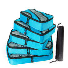 2019 New 5PCS/Set High Quality Oxford Cloth Travel Mesh Bag In Bag Luggage Organizer Packing Cube Organiser for Clothing Shoes - DISCOUNT ITEM  42% OFF Luggage & Bags