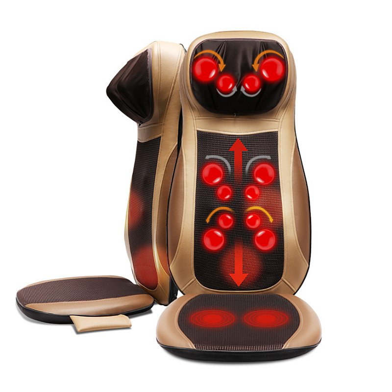 Électrique Massage Du Dos Cervicale Chauffage Cou Taille shiatsu Coussin Ménage Corps Entier pétrissage De Massage Pour Chaise