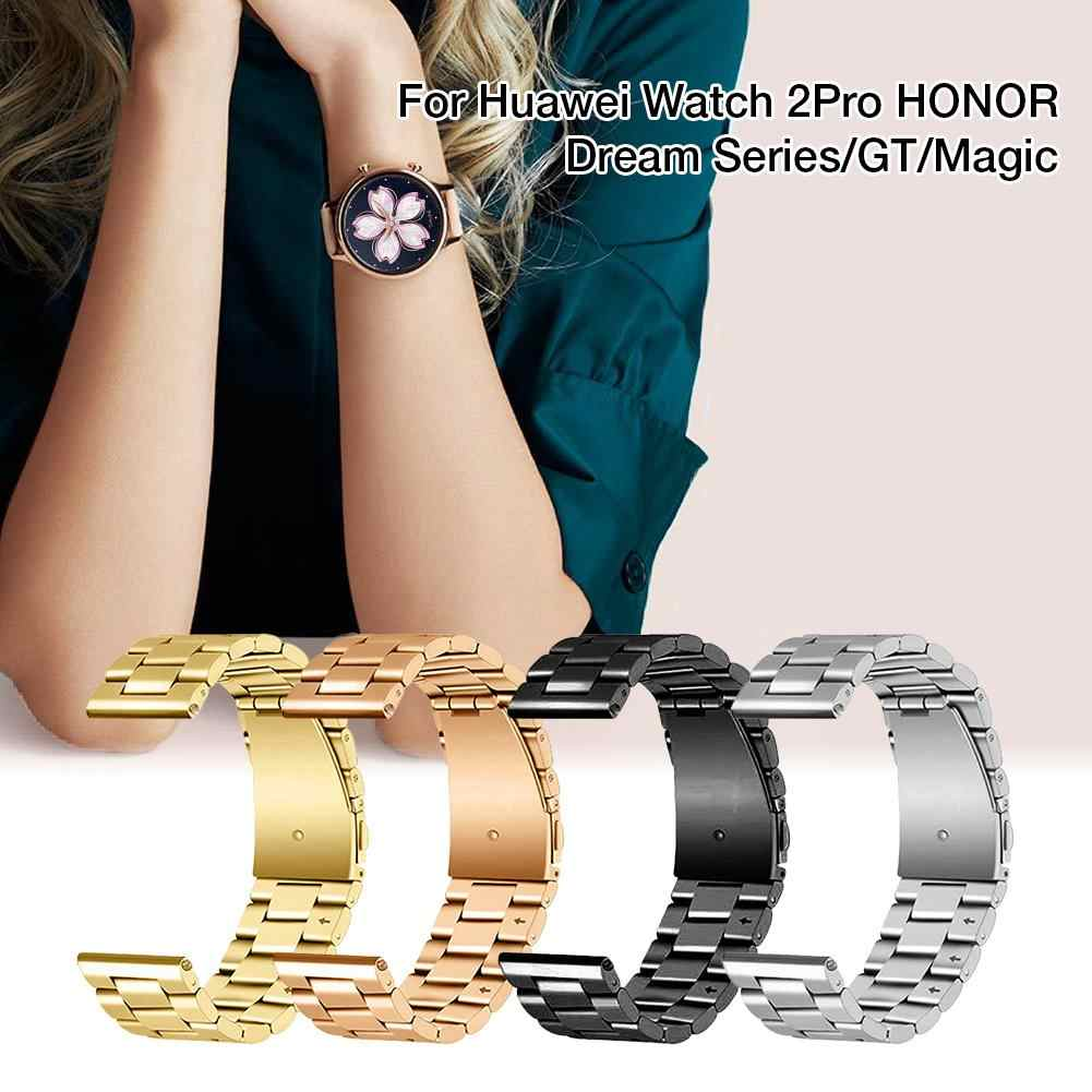 Three Beads Stainless Steel Metal Strap Replacement Watchband Wrist Band For Huawei Watch 2Pro HONOR Dream Series GT Magic