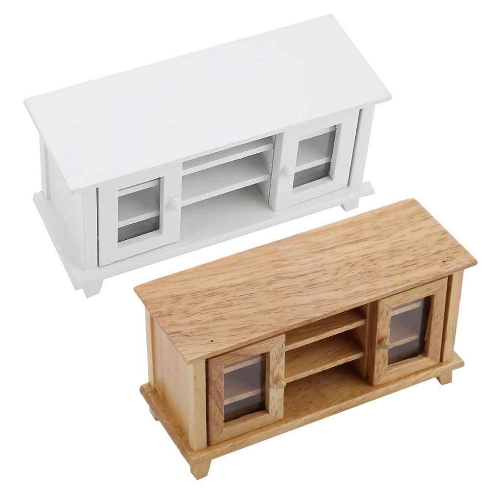 Details about  /1:12 Scale Dollhouse Storage TV Cabinet Miniature Mini Wooden Furniture Kids