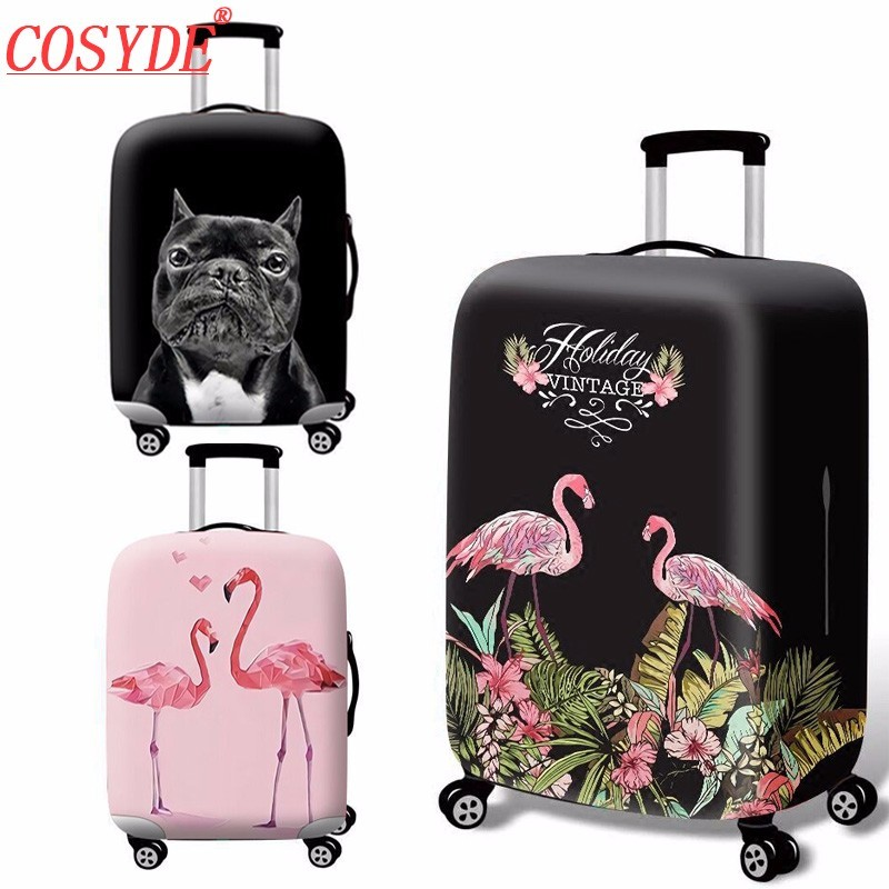 Flamingo Series Fashion Men Women Elastic Fabric Luggage Protective Cover Trolley Case Suitcase Dust Cover Travel Accessories