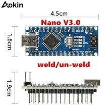 Для Arduino Nano Mini USB с Загрузчиком для контроллера Arduino nano 3,0 для USB драйвера Arduino CH340 16 МГц Nano v3.0 ATMEGA328