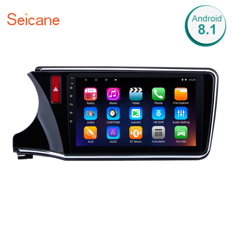 <font><b>Seicane</b></font> Android 8.1 2din 10.1 inch Radio GPS Navigation for 2014 2015 2016 2017 <font><b>Honda</b></font> <font><b>CITY</b></font> Left Hand Drive support WIFI USB OBD2 image