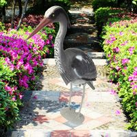 Newest Quality Large Decoy Heron Egret Sculptures Garden Ornaments Bird Scarer Fish Pond Koi Carp Protect Garden Crafts
