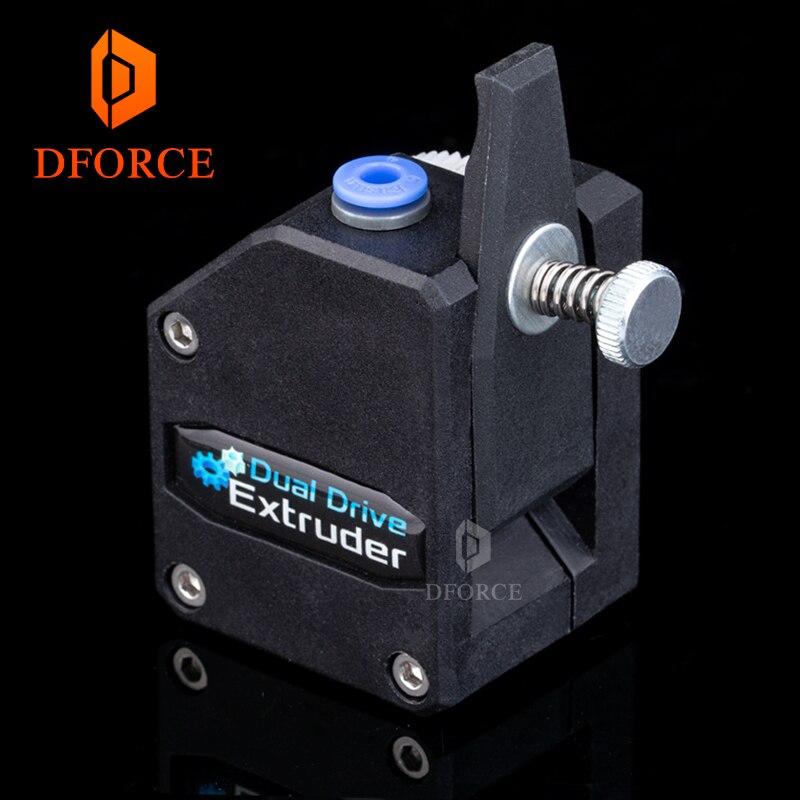 BMG DFORCE Alto desempenho extrusora Bowden Extrusora Dual Drive Clonado Btech Extrusora para impressora 3d impressora para 3D MK8