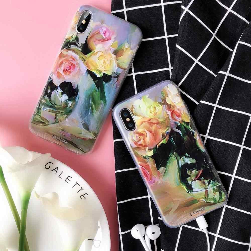 CASEIER Flower Paint TPU Phone Case For Huawei P20 P20 Lite P10 P9 P8 Soft  Case For Huawei P10 P9 P8 lite Honor 8 9 9 lite Case