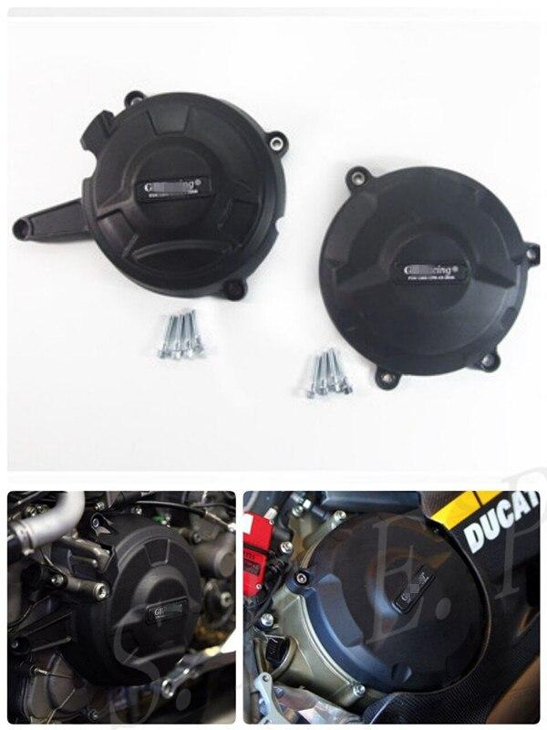 Housse de protection pour moteur moto GB Racing pour Ducati 1199 Panigale 2012-2013-2014 & 1299 Panigale 2016 noir