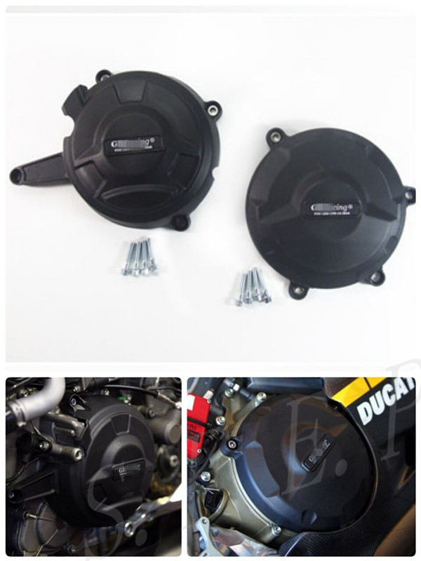 Motorcycle Engine Case Guard Protector Cover GB Racing For Ducati 1199 Panigale 2012-2013-2014 & 1299 Panigale 2016 BlackMotorcycle Engine Case Guard Protector Cover GB Racing For Ducati 1199 Panigale 2012-2013-2014 & 1299 Panigale 2016 Black
