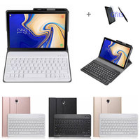 Slim Detachable Bluetooth Keyboard Leather Case for Samsung Galaxy Tab S4 T830 T835 10.5 inch Tablet Stand Cover Funda