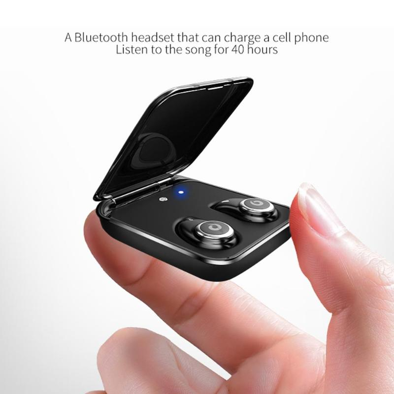 Bluetooth 5 0 Earphone True Wireless EarBuds IPX7 Waterproof Stereo Headset 2000mAh Power Bank Phone Charge