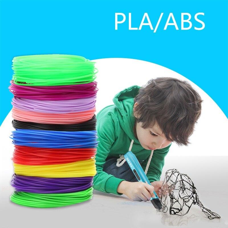 1.75mm 5 M 10 M 50 M 100 M Kinderen Afdrukken Creatieve 20 Kleuren Lijn Voor 3d Pen Afdrukken Tekening Pla Abs Materiaal Milieu