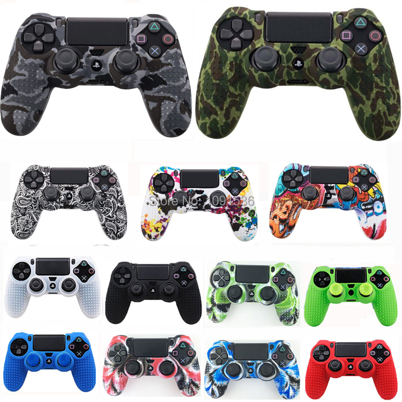 PS4 slim pro Studded Anti Slip Rubber Gel Protective Silicone Case Skin Grip Cover For Sony